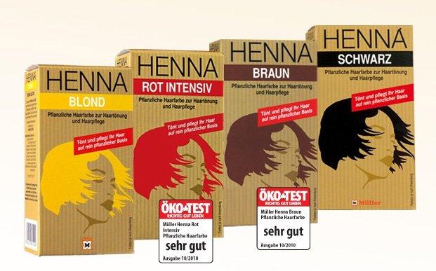 Henna farbe haare test