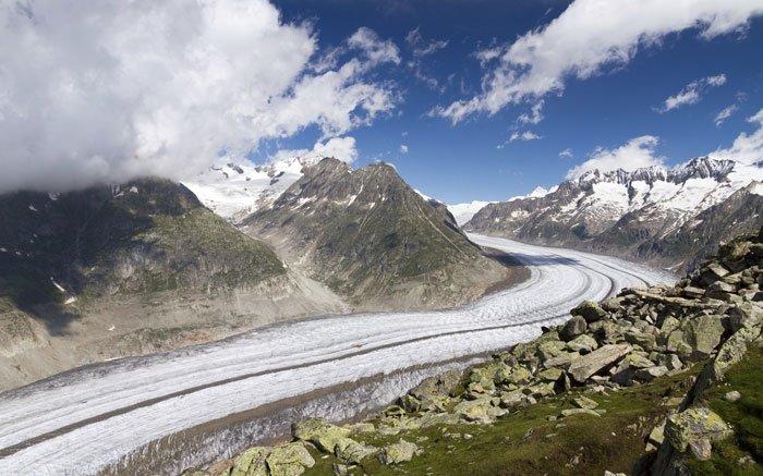 Klettersteig Eggishorn : Bild klettersteig unesco höhenweg mit atemberaubender aussicht