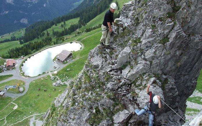 Klettersteig Zittergrat : Bild klettersteig brunnistöckli zittergrat kletterspass