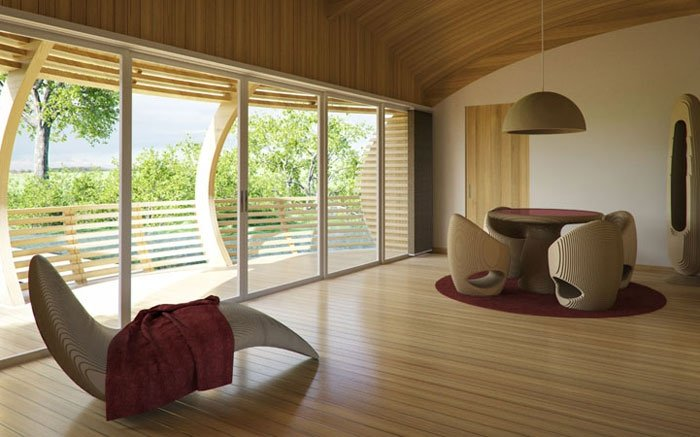 hausboot von eco flo life nachhaltig wohnen im besonderen kohaus. Black Bedroom Furniture Sets. Home Design Ideas