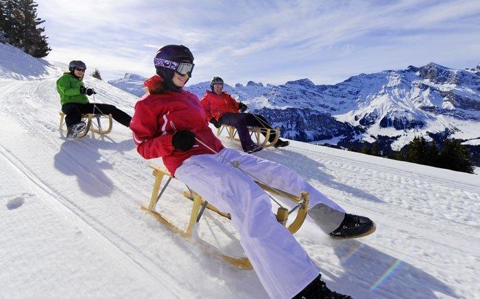Schlitteln Zentralschweiz: Spass pur auf 3 Abfahrten in Engelberg