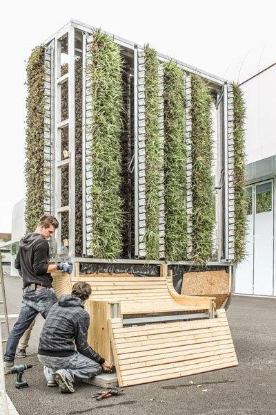 bild 5 citytree moderne technik und solaranlage versorgen den nat rlichen moosfilter. Black Bedroom Furniture Sets. Home Design Ideas