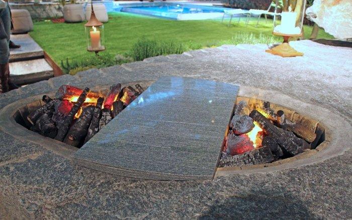 Bild 7 Garten Gestalten Feuerstelle Aus Stein Setzt Einzigartige