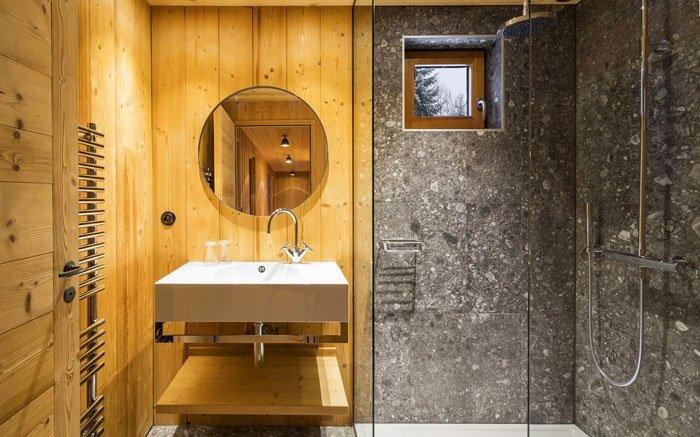 Bild 3 minimalistisch leben das badezimmer besteht aus stein und holz - Steinfliesen reinigen ...