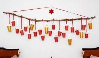 Adventskalender basteln: die schönsten Ideen mit Pappbechern