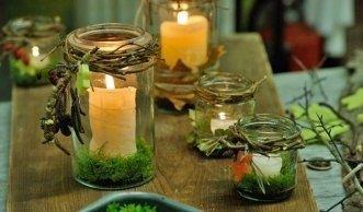 Basteln mit Naturmaterialien: Stimmungsvolle Kerzenhalter