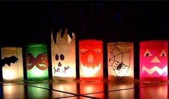 So basteln Sie farbige Grusel-Lichter für Halloween