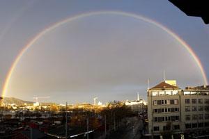 Doppelregenbogen über Zürich