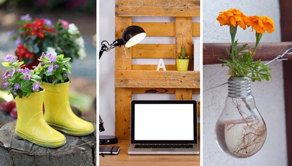 Geniale Upcycling-Ideen für zu Hause