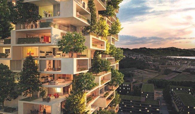 Grünes Hochhaus für Lausanne: Erster Bosco Verticale der Schweiz