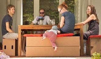 Starke Leichtgewichte: Kartonmöbel zeigen, was sie können