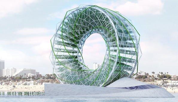 Dieses Riesenrad produziert Gemüse und Trinkwasser mitten im Meer