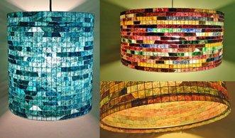 Einmalige Upcycling-Idee: Bunte Lampen aus Kaffeefiltern