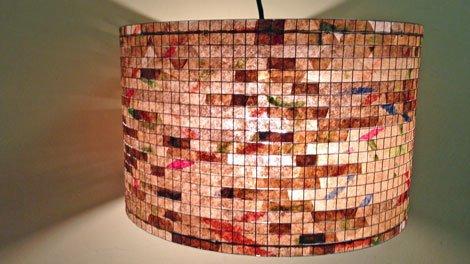 upcycling ideen bunte lampen aus kaffeefiltern. Black Bedroom Furniture Sets. Home Design Ideas
