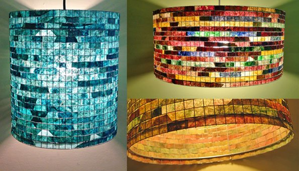 upcycling ideen bunte lampen aus kaffeefiltern. Black Bedroom Furniture Sets. Home Design Ideas