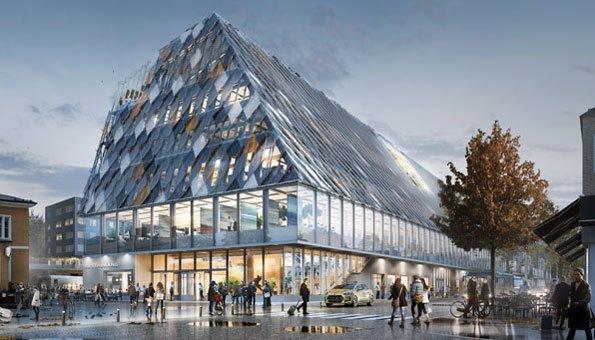 Bauen mit Holz: Ansprechende Stadthalle von White Arkitekter