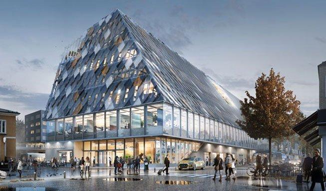Holzbau der Superlative: So cool wird Växjös neues Zentrum