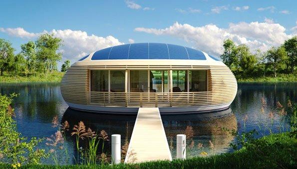 hausboot von eco flo life nachhaltig wohnen im besonderen. Black Bedroom Furniture Sets. Home Design Ideas