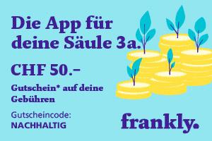 frankly – die App für deine nachhaltige Säule 3a