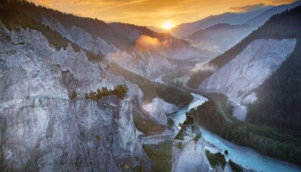 Schluchten wandern in der Schweiz