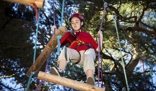 Ausflugsziele mit Action: Im Seilpark die Natur von oben erkunden