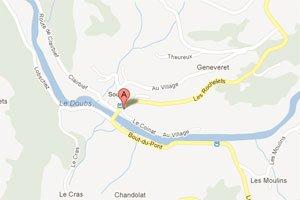Der Start dieser leichten Route ist am Hotel du Cerf in Sobey.