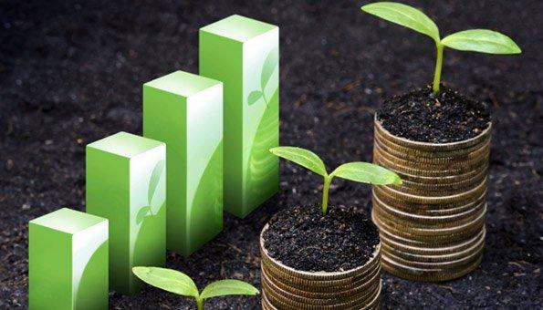 Investitionen für Anlagen fördert das Wachstum an.