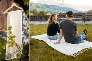 Wir verlosen 5 Tücher aus Biobaumwolle für je 79 Franken