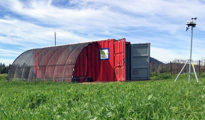 In diesem Container steckt alles, um einen Biohof zu bewirtschaften