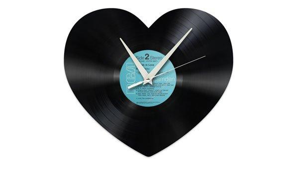 Gewinnen Sie 6x1 Herz-Schallplattenuhr für 99 Franken!