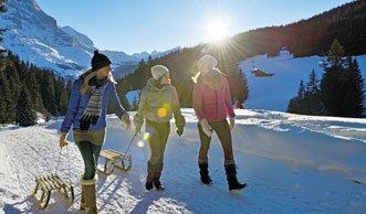 Ab in den Schnee! Die besten Wege zum Schlitteln in Grindelwald