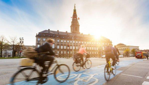 Auf Kopenhagens Strassen fahren mehr Velos als Autos