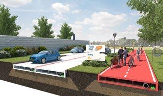 Kunststoff als Strassenbelag: Aus Joghurtbechern werden Fahrbahnen