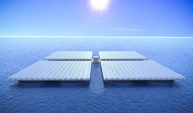 Schwimmende Solaranlagen sollen bald die Meere bevölkern