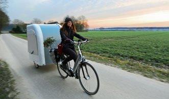 Mini-Wohnwagen im Schlepptau: Diesen Camper kann ein Velo ziehen