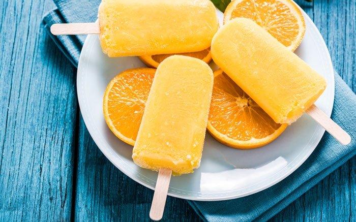 Orangen-Glace ist die perfekte Abkühlung an heissen Tagen