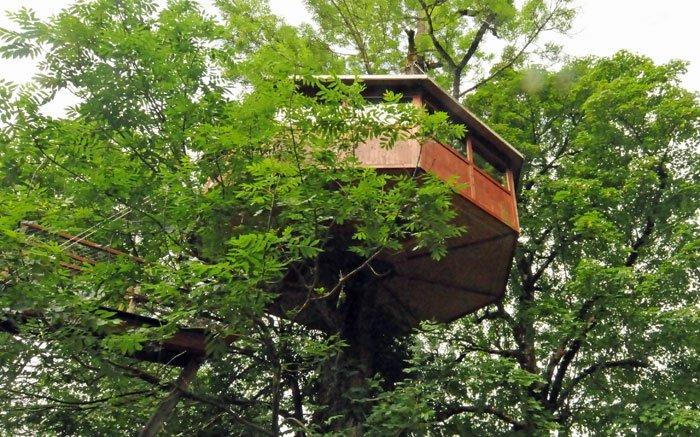 Schlafen im Grünen: Übernachten im Baumhaus in Neuenburg