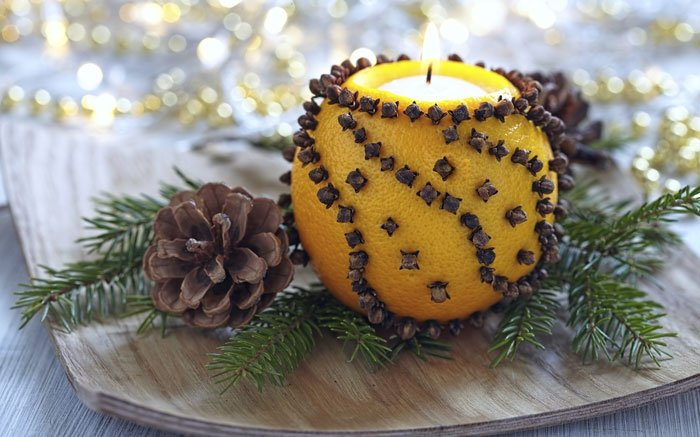 bild 8 weihnachtsdeko selber machen leuchtende orange mit teelicht. Black Bedroom Furniture Sets. Home Design Ideas