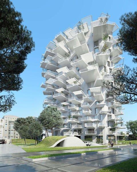 Moderne architektur white tree nutzt baum als vorbild for Moderne architektur gebaude