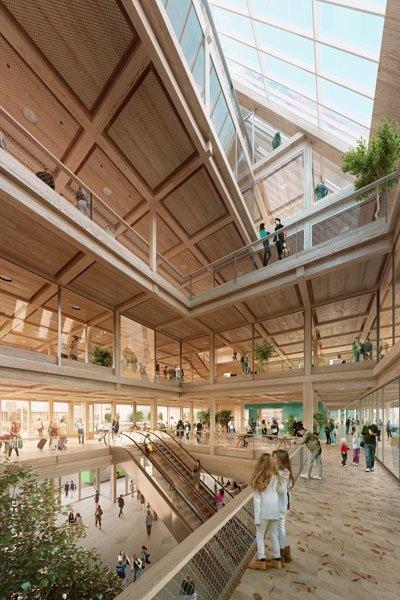 Alles unter einem Dach – so sieht der nachhaltige Bau von innen aus