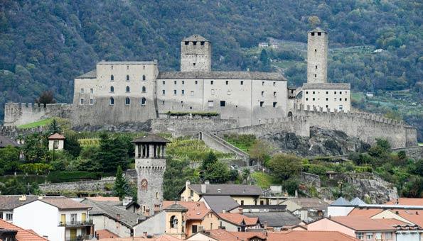 Die drei Burgen von Bellinzona: Castelgrande