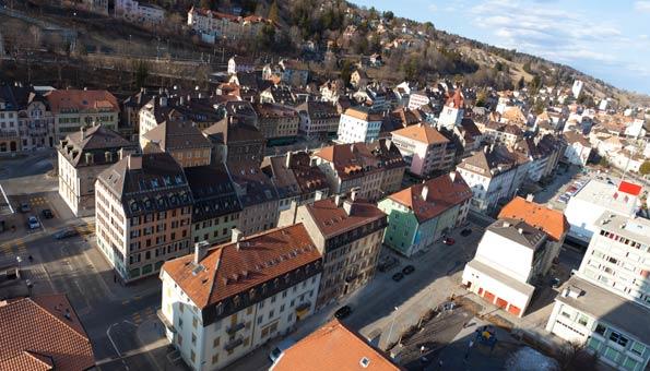 Le Locle gehört wie La Chaux de Fonds zum unesco weltkulturerbe der Schweiz