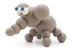 Figuren aus Knete selber machen: Ein Elefant geht ganz einfach