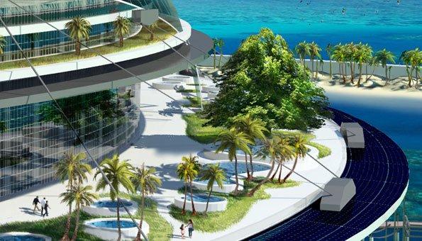 wohnen in der zukunft die schwimmende stadt eco island. Black Bedroom Furniture Sets. Home Design Ideas