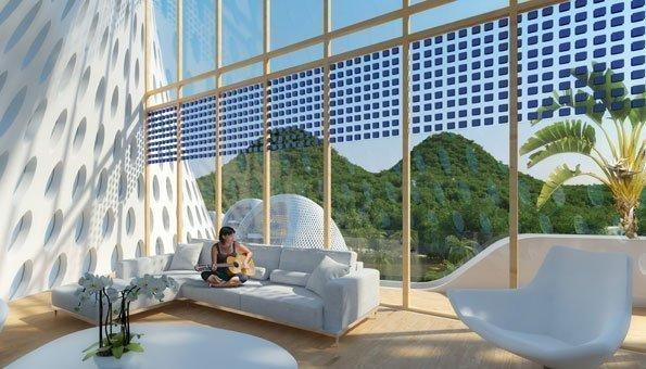 Die Dämmung der Gebäude besteht aus nachhaltigen Materialien.