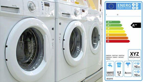 Energielabel bei Waschmaschinen gibt die Energieeffizienzklasse an