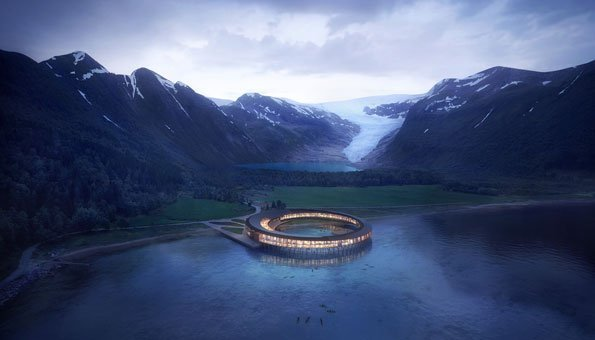 Norwegen baut am Polarkreis irres Ökohotel in Form eines Rings