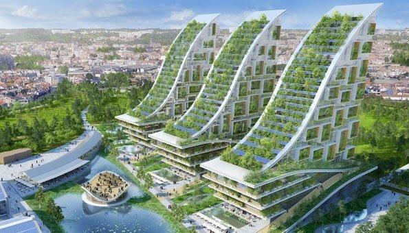 Ein innovatives Bauprojekt ist dieses Öko-Quartier in Brüssel.