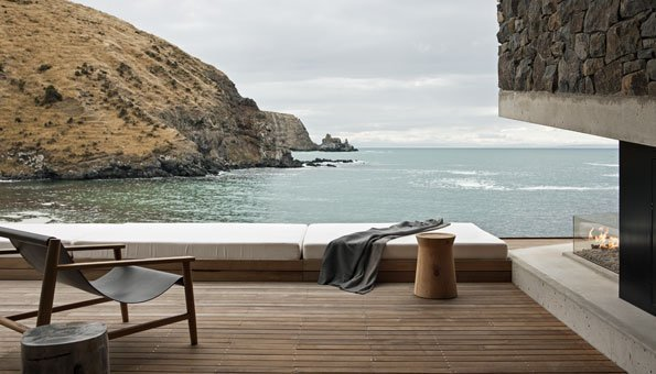 Seascape besteht unter anderem aus dem Naturmaterial Holz