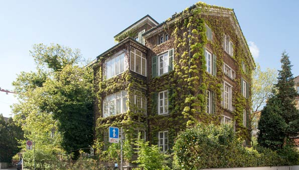 Fassade mit Green Wall